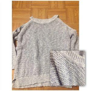 EXPRESS light weight cold shoulder 3/4sweater SzXS